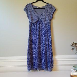 ATHLETA | Blue V-Neck Dress | MT